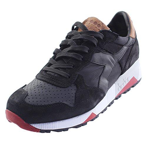 Diadora Heritage, Uomo, Trident 90 NYL Nero Marrone Chiaro, Suede / Pelle, Sneakers, Nero