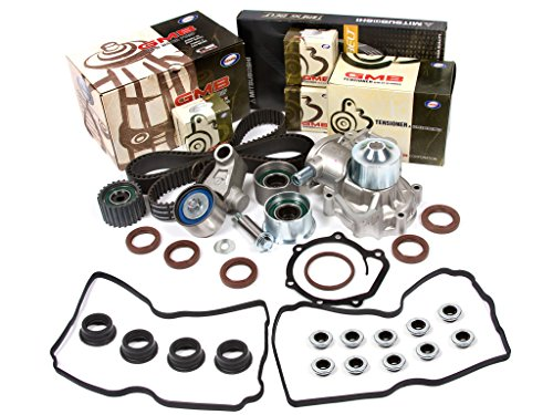 Evergreen TBK304MVC 99-05 EJ22 EJ25 Subaru Forester Legacy Impreza SOHC Timing Belt Kit Valve Cover Gasket GMB Water Pump