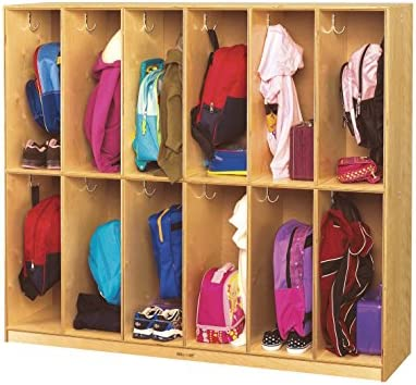 Childcraft Coat Locker 53-3//4 x 13-3//4 x 48 Inches 12 Sections