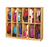 Childcraft 12-Section Assembled Coat Locker, 53-3/4 x 13-3/4 x 48 Inches