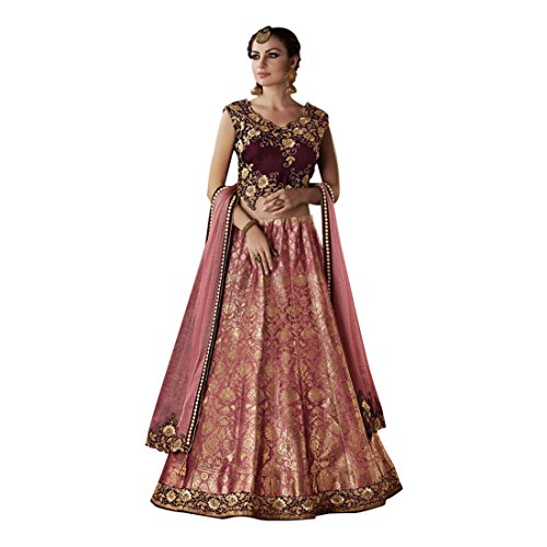Bollywood Wedding jaquard Zari Lehenga Ghagra Choli party Indian Women Muslim Original 738