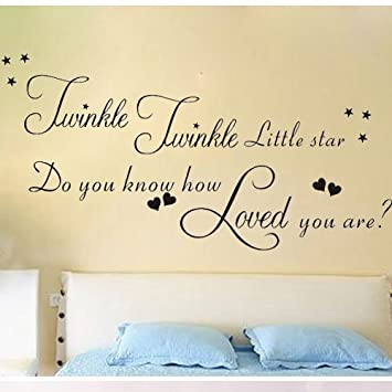 Perfect Twinkle Twinkle Little Star Do You Know How Loved You Are Wall Stickers  With Decor Decal Part 30