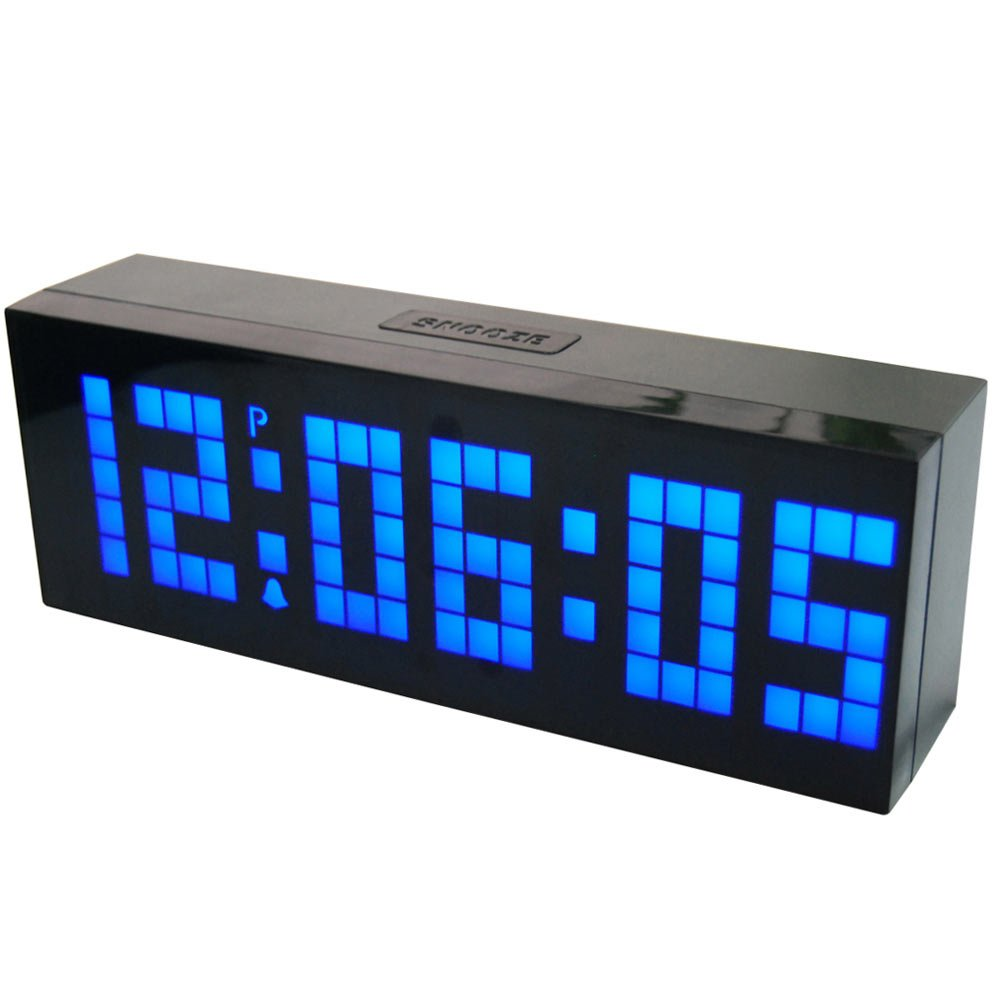 Amazon chihai digital led clock wall alarm digital calendar amazon chihai digital led clock wall alarm digital calendar clock count down timerblue office products amipublicfo Gallery