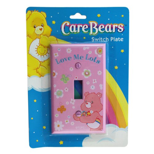 pink-love-me-lots-care-bears-light-switch-plate-care-bears-swtich-plate