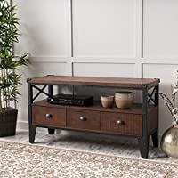 Chestin Dark Brown Wood TV Stand