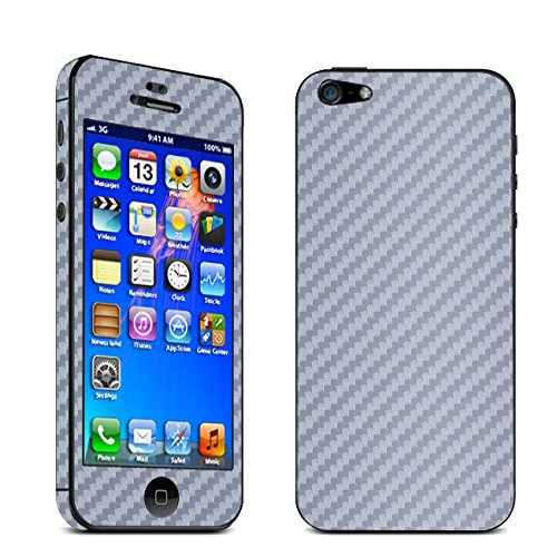 UTLK iPhone 4 /4S Full Body Carbon Fibre Wrap Decal Skin Sticker Protector (for Iphone 4/4S Gray)
