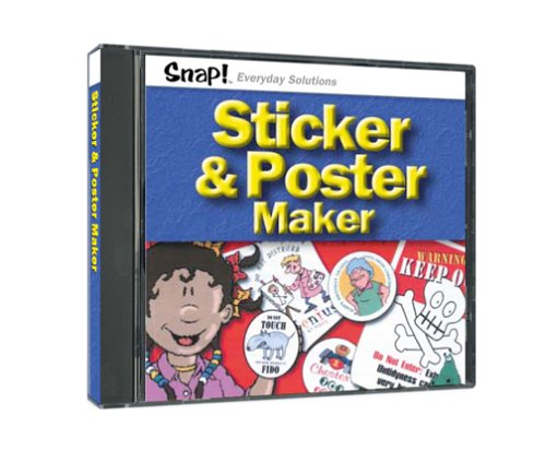 SNAP! Sticker and Poster Maker (Jewel - Cd Label Maker Easy