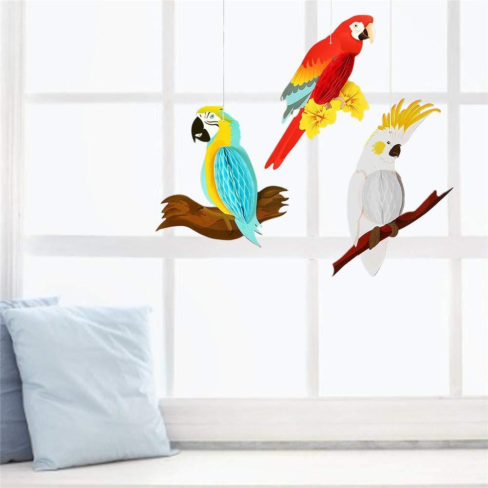 Baum Terrasse Und Garten Deko K/ünstlicher Papagei Vogel didatecar Papier Papagei Dekoration Macaw Tier Party Garten Kinderzimmer Deko F/ür Balkon Zaun