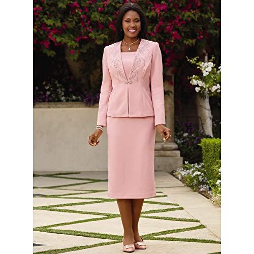 Lisa Rene Jewels 'n' Shimmer Knit Suit Pink ()