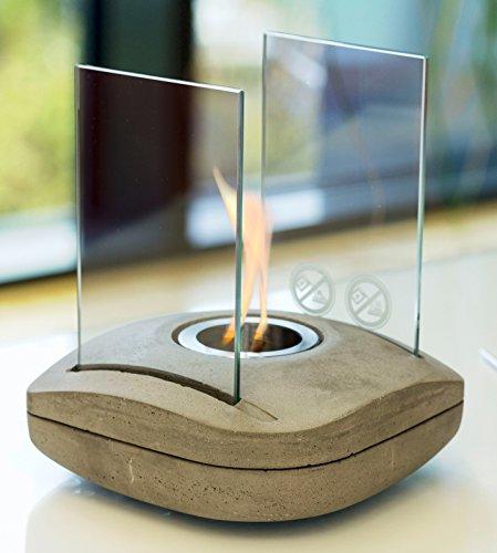 Designer Feuerschale Spuare - Bio-Ethanol Tischkamin - von matrasa
