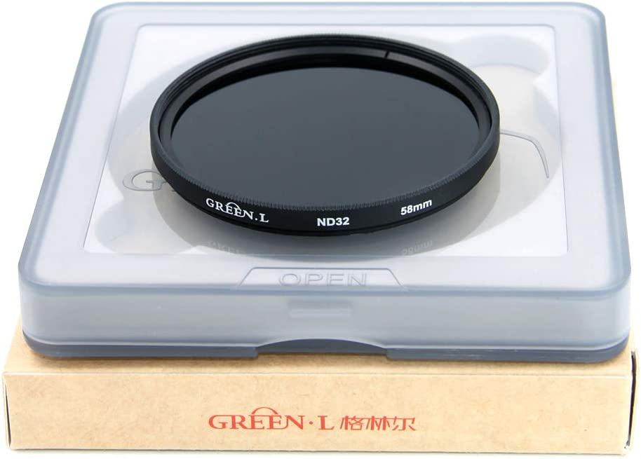 GREEN.L 77mm ND1000 Filter Slim Neutral Density ND Filter Optical Glass 10 Stop