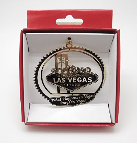 What Happens in Vegas Stays in Vegas Brass Christmas Ornament