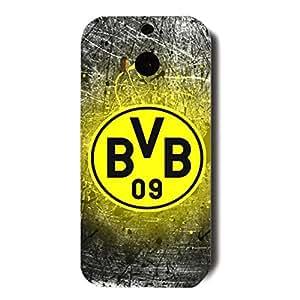 3D Best Style Borussia Dortmund 11 FC Black And Yellow Pattern Hard Plastic Phone Case For HTC ONE M8 Borussia Dortmund Football Club Logo Print Design For Students