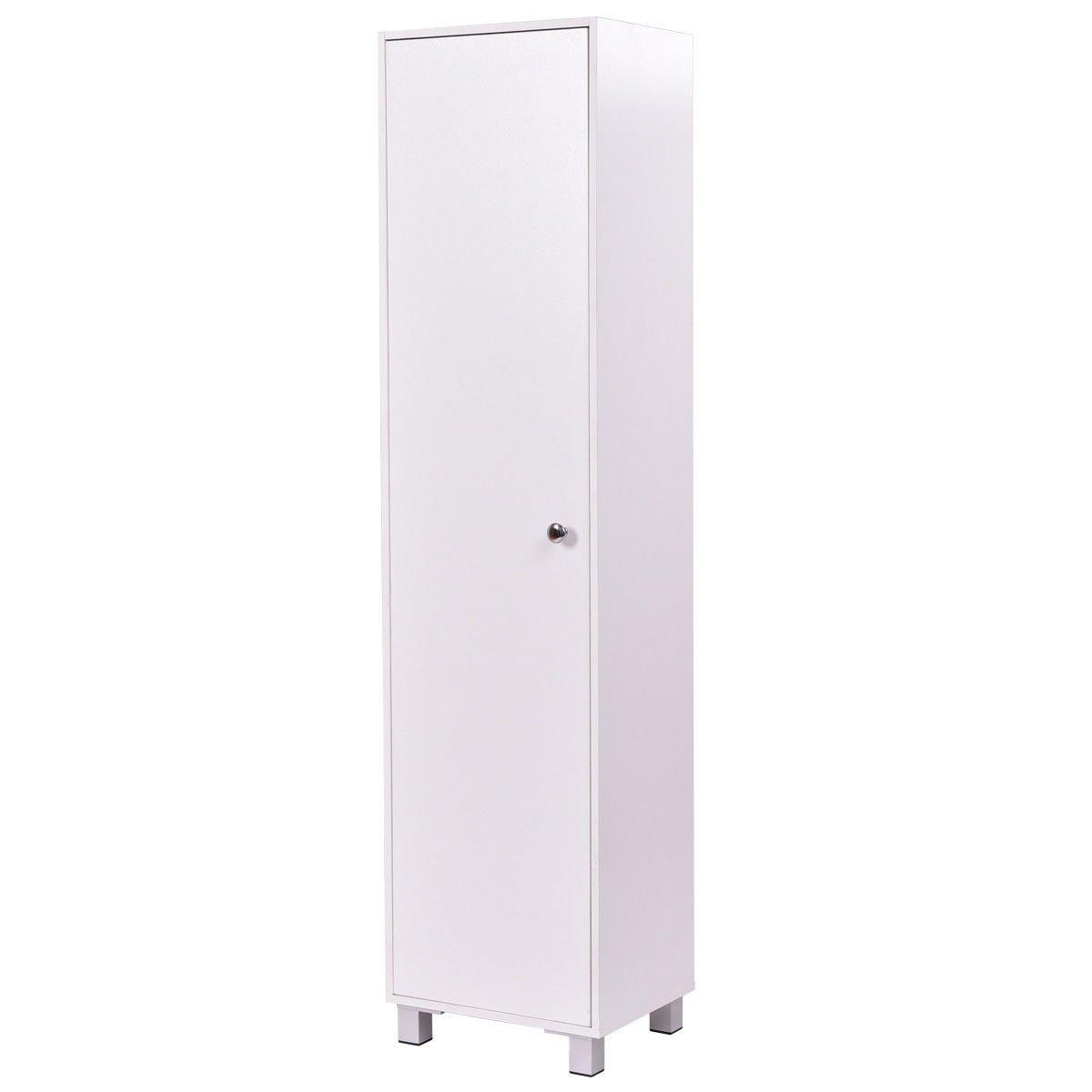 Storage Cabinet Locker Organizer 4 Tier Single Door Home Office Furniture 60'' by White Bear & Brown Rabbit