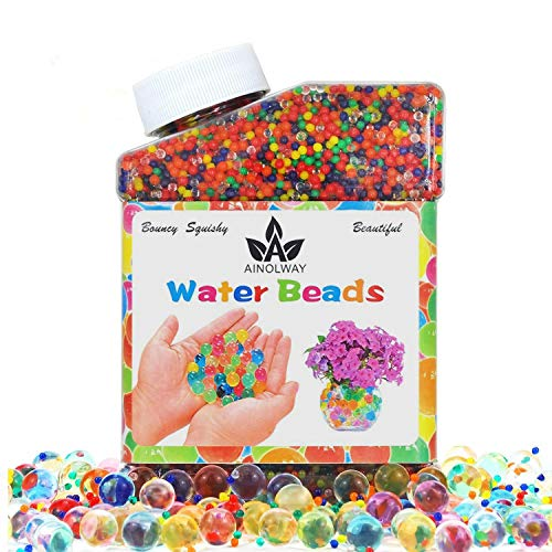 Vases 8000 Mega Water Beads Aqua Gems Bio Gel Balls Crystal Soil