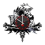 Cheap Final Fantasy Science Fiction Game Handmade Vinyl Record Wall Clock Fun gift …