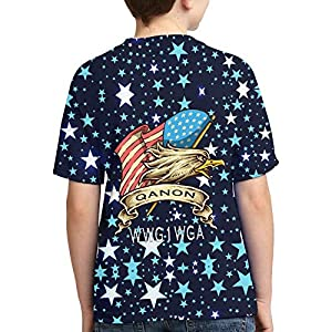 John J Littlejohn Qanon Youth T-Shirts 3D Printed T-Shirt for Toddlers Boy'S Short-Sleeve Casual Tee