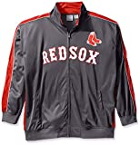 MLB Boston Red Sox Men's Team Reflective Tricot Track Jacket, X-Large/Tall, Charcoal/Red