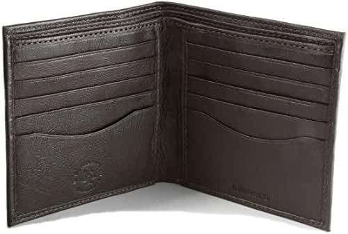 Hammer Anvil Mens Leather Wallet Bifold Hipster 2 Bill Sections Oversized Square