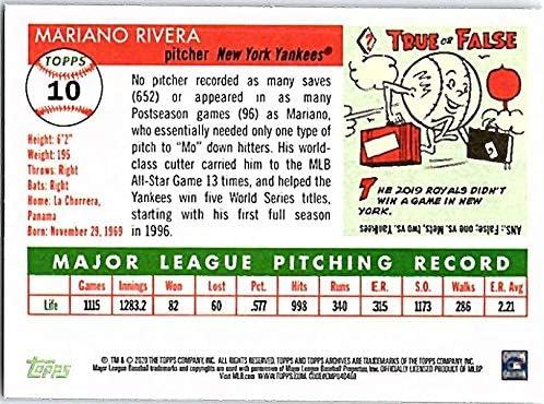 2020 Topps Archives #10 Mariano Rivera NM-MT New York Yankees Baseball