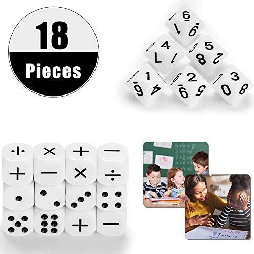 18 Pieces Teaching Dice Set...