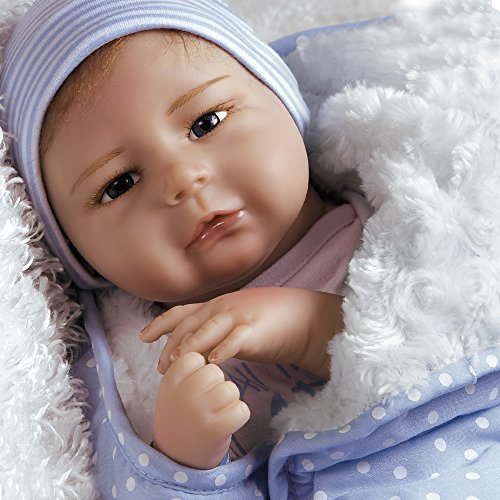 Paradise Galleries Silicone Vinyl Baby Boy Doll, 20 inch Newborn Baby Bundles: All The Ladies Love Me