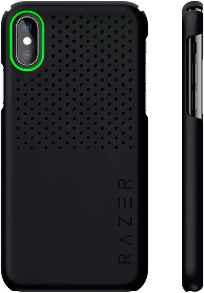 Razer Arctech Slim for iPhone Xs Case/iPhone X Case: Thermaphene & Venting Performance Cooling - Wireless Charging Compatible - Matte Black