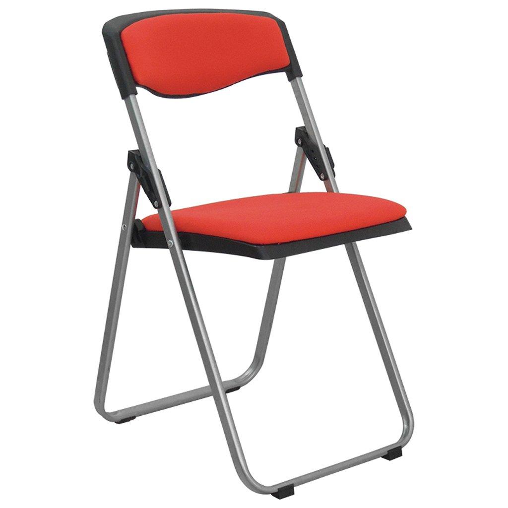 ベンチ 折りたたみ椅子スポンジクッション背もたれ折りたたみ椅子コンピュータオフィストレーニング会議の椅子 (A++) (色 : 赤) B07DD8ZRCK 赤 赤