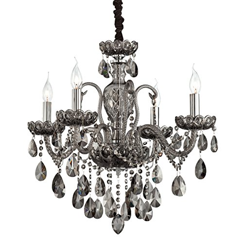 Eurofase 23123-021 Providence 4-Light Chandelier, Smoke
