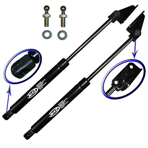 Two Front Hood Gas Charged Lift Supports for 1991-1996 Dodge Stealth, 1991-1999 Mitsubishi 3000GT. Left and Right Side. WGS-495-496 ()