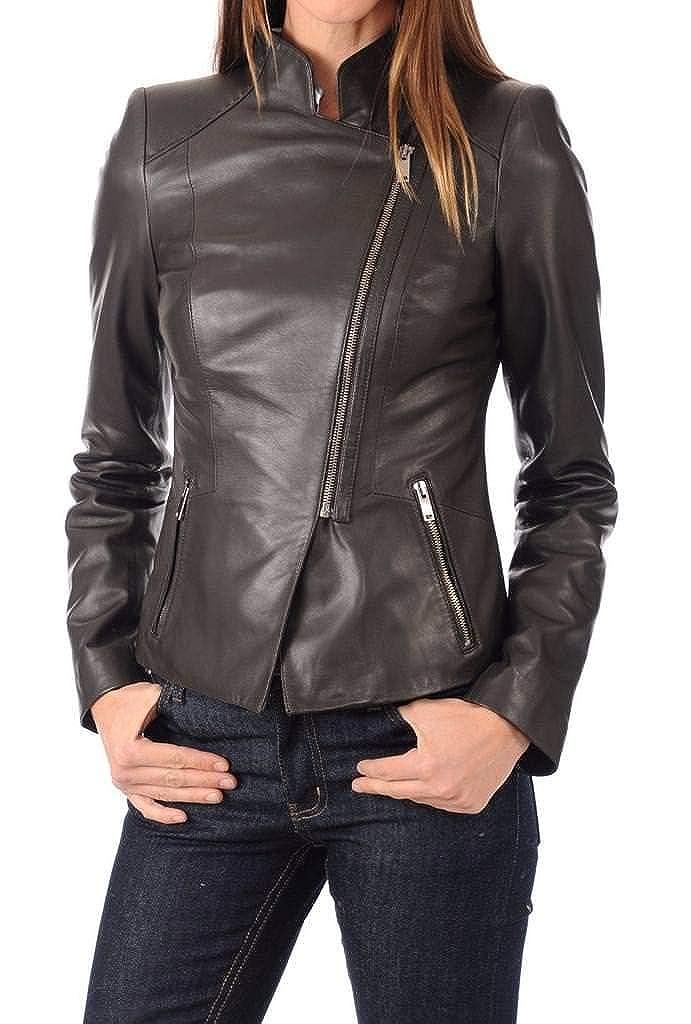 Women's Stylish Lambskin Genuine Leather Jacket WJ05
