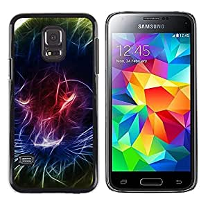 Impact Case Cover with Art Pattern Designs FOR Samsung Galaxy S5 Mini, SM-G800 Black Panther Light Painting Neon Colors Betty shop