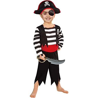 Image result for SP Funworld Children's Pirate Boy Costume With Hat, Sword,Eyepatch