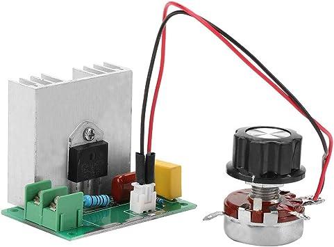 regulador LED de control de velocidad para temperatura de luz AC regulador de voltaje del motor Controlador de velocidad del motor SCR AC 220V 2000W controlador de velocidad del motor AC