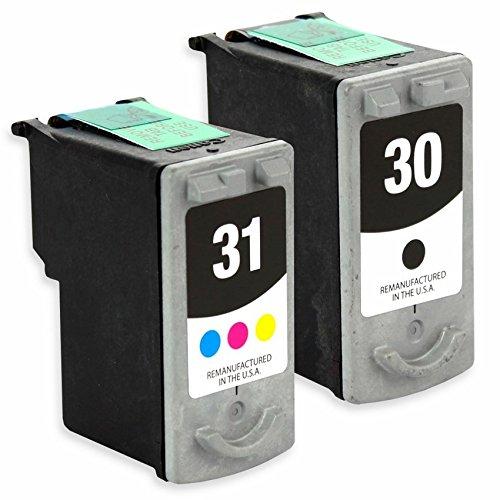 Cartridge 31 Printer Cl (INKUTEN Remanufactured Canon PG-30 & CL-31 Combo Black & Color Print Cartridge)