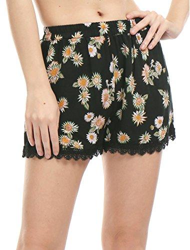 Allegra-K-Women-Allover-Printed-Lace-Trim-Elastic-Waist-Shorts