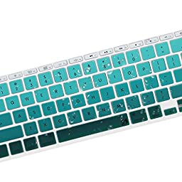 Litop® 11.6-inch Thin Green Gradient Series Silicone Keyboard Cover Keyboard Skin for All MacBook Air 11\