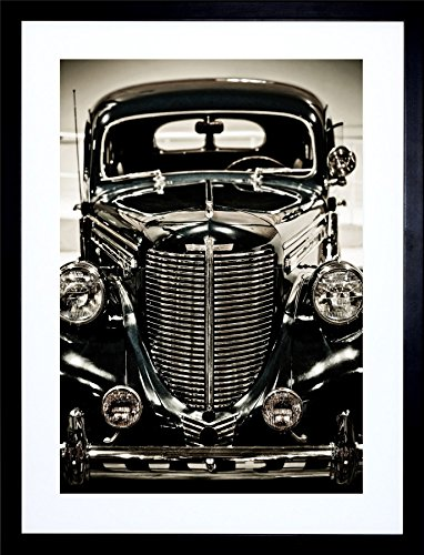 Old Car Framed (VINTAGE CAR OLD FASHIONED AUTOMOBILE CLASSIC ART FRAME PRINT PICTURE 79 F12X1679)