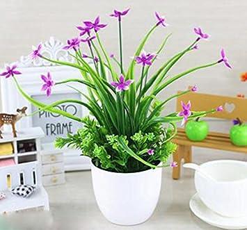 Desktop Simulation Fake Blumen Für Wohnzimmer Esstisch Kleine Topfpflanzen Dekoration  Schlafzimmer Couchtisch Dekoration Blumentöpfe Dekoration Red