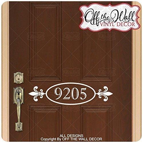 Amazon Fleur De Lis House Numbers Front Door Vinyl Lettering