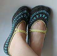 Crochet pattern, Women Mary Jane Slippers (58)