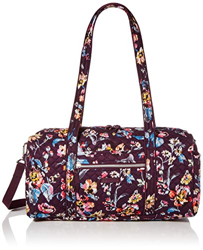 Vera Bradley Women's Vera Bradley Women s Signature Cotton Small Travel Duffel Travel Bag Indiana Rose One Size, Indiana Rose, Small 18 US