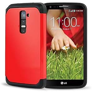 Amazon.com: LG G2 Case, AnoKe Armor Dual Layer Bumper Case ...