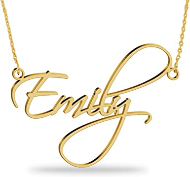 Personalised Name Necklace Gold Plated over 925 Sterling Silver Any 11 Initials
