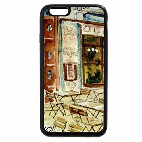 iPhone 6S / iPhone 6 Case (Black) French Bistro