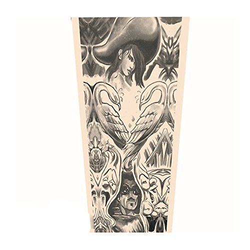 [Actual Anime Tattoo Arm Sleeve Men and Women Protection Breathable Outdoor Basketball Sports Wrist Sunscreen Keep Warm Fishing Gloves] (Mormon Halloween Costumes)