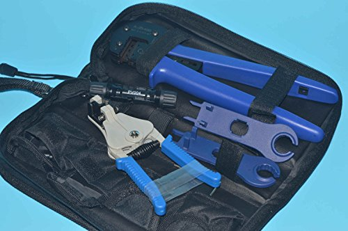 Tyco Crimping Tool (9milelake A-2546-B Solar MC4 Crimping Pliers Tools Kits Suit Line Pressing Photovoltaic Pv , MC4 Crimping / Stripping Solar Pv Tool Kit with Mc4 Connector/spanner)