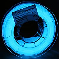 Amolen PLA 3D Printer Filament, 1.75mm PLA Filament with Sample, Dimensional Accuracy +/-0.03mm, Glow in the Dark from Amolen