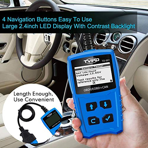 Tvird OBD 2 Scanner Universal Car Engine Fault Code Reader Classic Enhanced Diagnostic Scan Tool - Black and Blue by Tvird (Image #6)