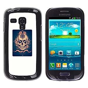 """For Samsung Galaxy S3 MINI ( NOT for regular S3 Case , Blanco Azul Rosa de Oro cartel Scary"""" - Diseño Patrón Teléfono Caso Cubierta Case Bumper Duro Protección Case Cover Funda"""